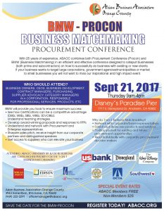 BMW-PROCON Business Matchmaking  & Procurement Conference 2017